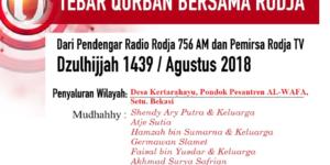 Tebar Qurban Radio dan TV RODJA Untuk Pesantren AL-Wafa