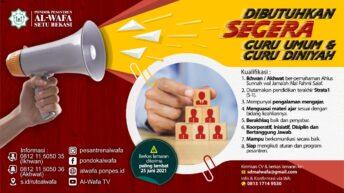 Info Lowongan Kerja Pesantren Al-Wafa